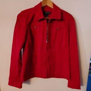 Jones New York Signature Red Jacket - S
